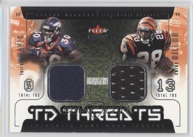 2002 Fleer Genuine - TD Threats - Jerseys [Memorabilia] #TDCD - Terrell Davis, Corey Dillon