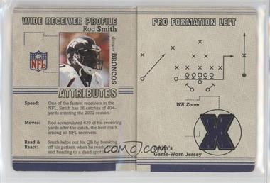 2002 Fleer Platinum - Inside the Playbook - Materials #ROSM - Rod Smith /250 [Noted]