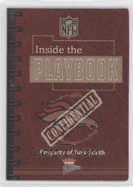 2002 Fleer Platinum - Inside the Playbook #ROSM - Rod Smith /400