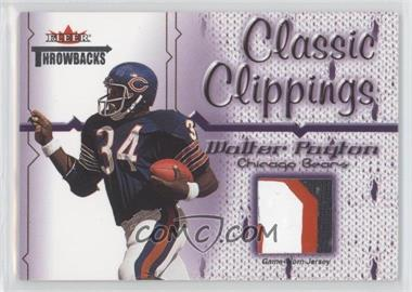 2002 Fleer Throwbacks - Classic Clippings #WAPA - Walter Payton