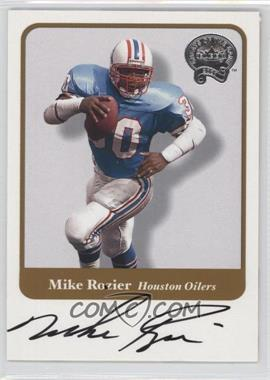 2002 Fleer Throwbacks - Greats of the Game Autographs #MIRO - Mike Rozier
