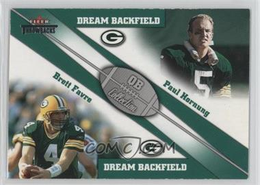 2002 Fleer Throwbacks - QB Collection Dream Backfields #1 DB - Paul Hornung, Brett Favre