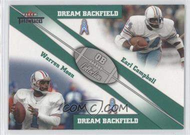 2002 Fleer Throwbacks - QB Collection Dream Backfields #2 DB - Warren Moon, Earl Campbell