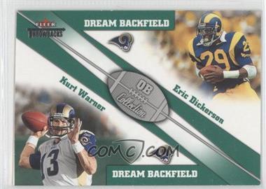 2002 Fleer Throwbacks - QB Collection Dream Backfields #3 DB - Eric Dickerson, Kurt Warner