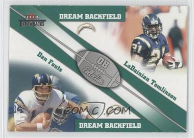 2002 Fleer Throwbacks - QB Collection Dream Backfields #4 DB - Dan Fouts, LaDainian Tomlinson