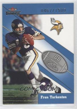 2002 Fleer Throwbacks - QB Collection #16 QB - Fran Tarkenton /1500