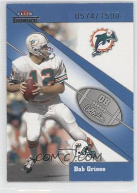 2002 Fleer Throwbacks - QB Collection #17 QB - Bob Griese /1500