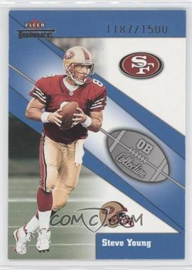 2002 Fleer Throwbacks - QB Collection #5 QB - Steve Young /1500