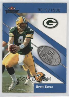 2002 Fleer Throwbacks - QB Collection #7 QB - Brett Favre /1500