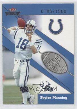 2002 Fleer Throwbacks - QB Collection #8 QB - Peyton Manning /1500