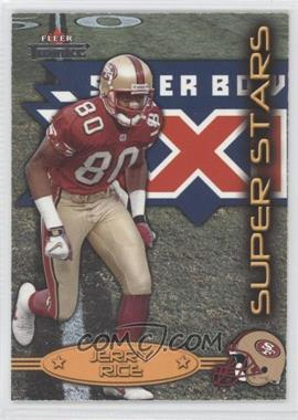 2002 Fleer Throwbacks - Super Stars #1 SS - Jerry Rice