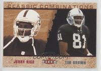 Tim Brown, Jerry Rice