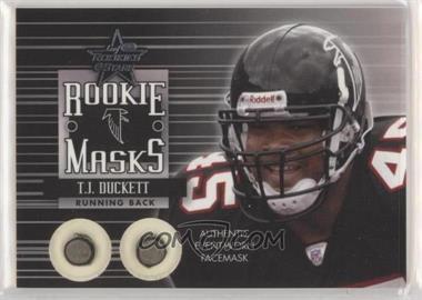 2002 Leaf Rookies & Stars - Rookie Masks #RM-9 - T.J. Duckett /250