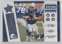 Peyton Manning, Edgerrin James #/2,500