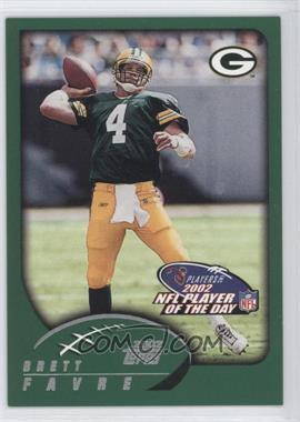 2002 NFL Player of the Day - [Base] #NFLPOD5 - Brett Favre