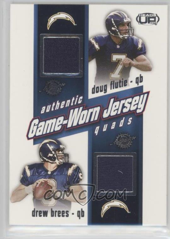 detailed look 19a0e 1e08f 2002 Pacific Heads Up - Game Worn Jersey Quads #30 - Doug ...