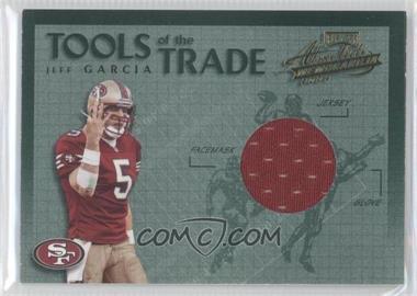 2002 Playoff Absolute Memorabilia - Tools of the Trade - Materials [Memorabilia] #TT-30 - Jeff Garcia /150
