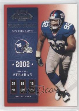 2002 Playoff Contenders - [Base] - Sample Silver #58 - Michael Strahan