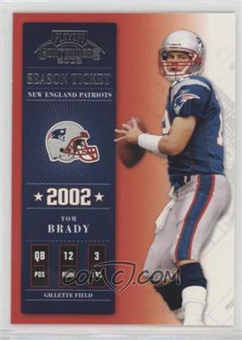 2002 Playoff Contenders - [Base] #7 - Tom Brady