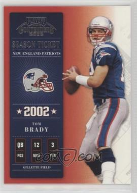 2002 Playoff Contenders - [Base] #7 - Tom Brady