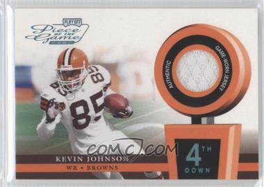 2002 Playoff Piece of the Game - Materials - 4th Down #POG-33 - Kevin Johnson /25