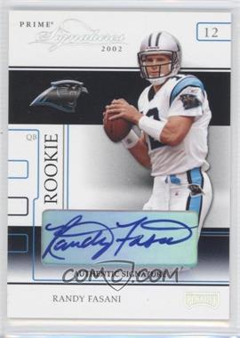 2002 Playoff Prime Signatures - [Base] - Authentic Signatures [Autographed] #94 - Randy Fasani /120