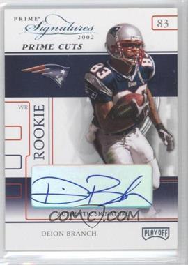 2002 Playoff Prime Signatures - [Base] - Prime Cut Signatures [Autographed] #102 - Deion Branch /5