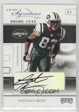 2002 Playoff Prime Signatures - [Base] - Prime Cut Signatures [Autographed] #34 - Santana Moss /5