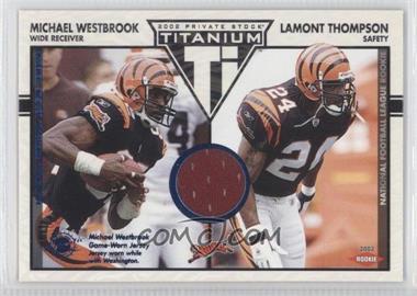 2002 Private Stock Titanium - [Base] - Blue Jerseys [Memorabilia] #114 - Michael Westbrook, Lamont Thompson /200