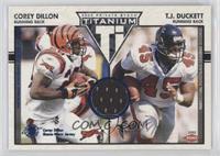 Corey Dillon, T.J. Duckett #/200