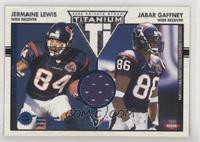 Jermaine Lewis, Jabar Gaffney [EX to NM] #/75
