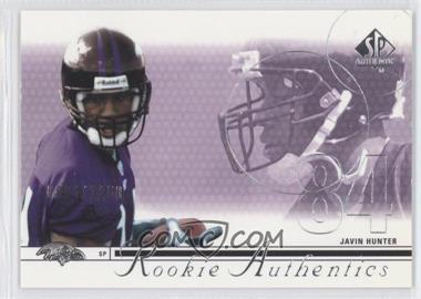 2002 SP Authentic - [Base] #160 - Javin Hunter /1150