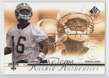 2002 SP Authentic - [Base] #161 - Derrick Lewis /1150