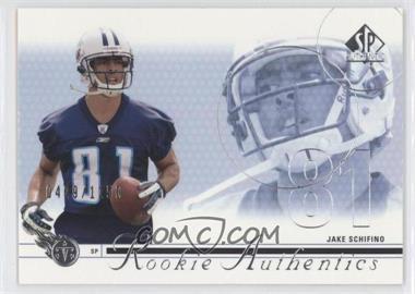 2002 SP Authentic - [Base] #167 - Jake Schifino /1150
