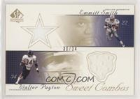 Emmitt Smith, Walter Payton #/34