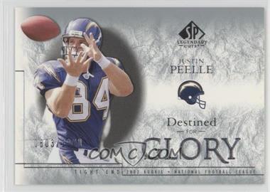 2002 SP Legendary Cuts - [Base] #178 - Justin Peelle /1100