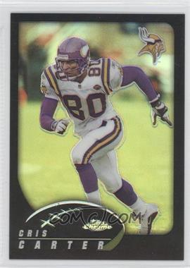2002 Topps Chrome - [Base] - Black Refractor #115 - Cris Carter /599