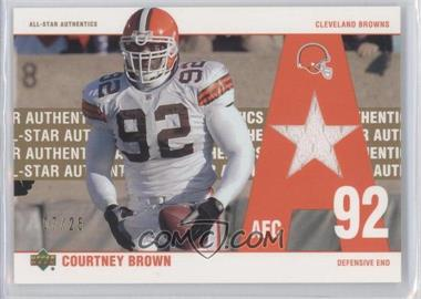 2002 UD Authentics - All-Star Authentics - Gold #AA-CB - Courtney Brown /25