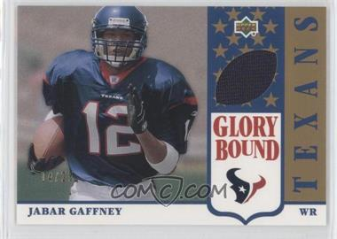 2002 UD Authentics - Glory Bound Jerseys - Gold #GBJ-JG - Jabar Gaffney /25