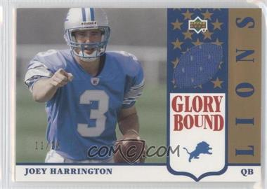 2002 UD Authentics - Glory Bound Jerseys - Gold #GBJ-JH - Joey Harrington /25