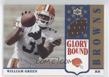 2002 UD Authentics - Glory Bound Jerseys - Gold #GBJ-WG - William Green /25