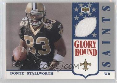 2002 UD Authentics - Glory Bound Jerseys #GBJ-DS - Donte Stallworth