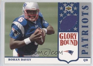2002 UD Authentics - Glory Bound Jerseys #GBJ-RD - Rohan Davey