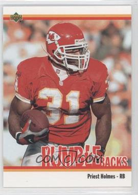 2002 UD Authentics - Rumble Backs #RB-16 - Priest Holmes