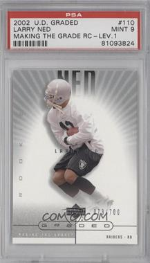 2002 Upper Deck Graded - [Base] #110 - Larry Ned /700 [PSA 9]