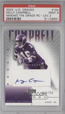 2002 Upper Deck Graded - [Base] #164 - Kelly Campbell /550 [PSA9]