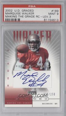 2002 Upper Deck Graded - [Base] #189 - Marquise Walker /250 [PSA 9 MINT]