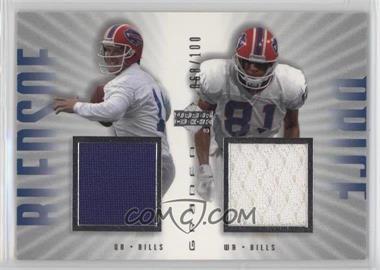 2002 Upper Deck Graded - Dual Game Jersey #BP-100 - Drew Bledsoe, Peerless Price /100