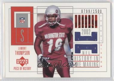 2002 Upper Deck Piece Of History - [Base] #156 - Lamont Thompson /1500