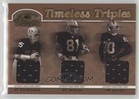 Fred Biletnikoff, Tim Brown, Jerry Rice /100